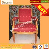 Buy cheap (BK0109-0013C) Luxury Royal Palace Red Dining Chairs, Noble European Classic Marquetry  Round  Dining Room Furniture Set from wholesalers