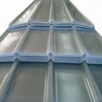 Buy cheap Translucent Corrugated Roof Sheet with 75MPa Tensile Strength, Made of High Steel and Tenacity FRP from wholesalers