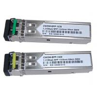 Buy cheap China Supplier 80Km 1.25G CWDM SFP module from wholesalers