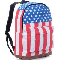 Buy cheap High Quality Canvas Backpack American Flag Bag from wholesalers