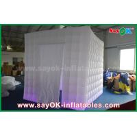 Buy cheap Lighting 2.5m 1 Door Inflatable Cabin Photobooth Photo Booth Tent With Velcro Curtain from wholesalers