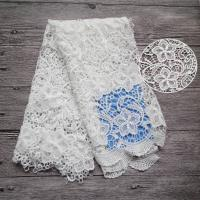 Buy cheap Water Soluble Flower Lace Fabric By The Yard High Fastness For Women Dresses from wholesalers