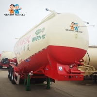Buy cheap Factory Customized 3 Axle 50 CBM/40T Dry Bulk Cement /Wheat Flour Tanker Semi Trailer export to Zambia, South Africa from wholesalers
