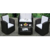 4pcs steel rattan sofa set