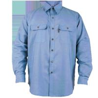 Buy cheap Customized denim workwear safety work clothes with stand collar from wholesalers