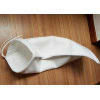 China Anti Static Filter Polyester / PP / Nylon Liquid Filter Bag , ISO 1mm Thickness Water Filter Bag on sale