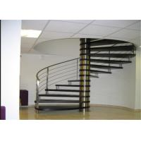 Buy cheap Indoor Modern Design glass spiral staircase with stainless steel balustrade from wholesalers