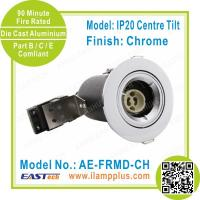 Buy cheap IP20 Tiltable Chrome Fire Rated Downlight | Die Cast Downlight Fitting from wholesalers