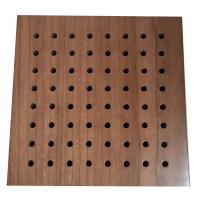 Buy cheap Sound Diffuse Wall Perforated Wood Acoustic Panels Decorative Ceiling Board from wholesalers