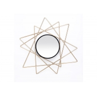 Buy cheap Modern Small Black Gold Starburst Metal Wall Art Mirror from wholesalers