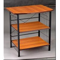 Buy cheap 3 Tiers PB Board Metal Tube Living Room TV Stands / Portable DVD Table Trolley from wholesalers