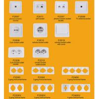 Buy cheap Elendax Top Best Selling Wall Switch and Socket for Europe ABS Material White(F2000) from wholesalers