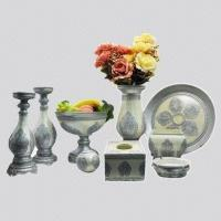 Buy cheap Home Decoration Crafts, Made of Polyresin, Comes in Silver, Suitable for Gifts, Friends from wholesalers