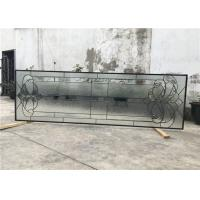 Black Patina Sliding Glass Door Double Glazed Telescopic Tempered Glass