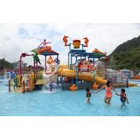 Buy cheap Fiberglass Kids' Water Playground inside water parks with water pump / Customized Water Slide from wholesalers