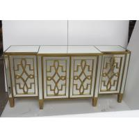 Buy cheap Unique Design Living Room Mirrored Side Board Gold Color Surface Finish from wholesalers