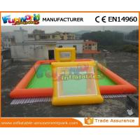 Buy cheap Commercial Inflatable Sports Games Football Soccer Pitch Inflatable Soap Football Field from wholesalers