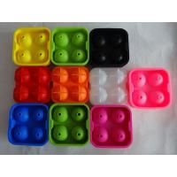 Buy cheap colorful silicone ice spheres for christmas , silicone whisky ice ball mold from wholesalers