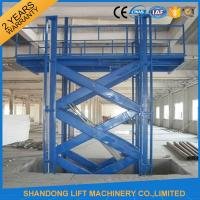 Buy cheap Warehouse Material Handling Equipment Stationary Hydraulic Scissor Lift with CE from wholesalers