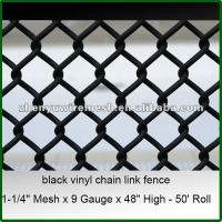 Buy cheap 9gauge 5 6 foot black vinyl coated chain link fence(Factory,High quality,Since1998) from wholesalers