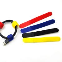 Buy cheap Colored Hook Loop Reusable Cable Ties For Shoes , Fabric Hook And Loop Fasteners from wholesalers