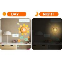 Buy cheap led sunflower sticker lamps, creative wall lamps cheap for home decor from wholesalers
