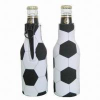 Buy cheap Useful white neoprene wine bottle coolers, customized styles and logos are accepted product