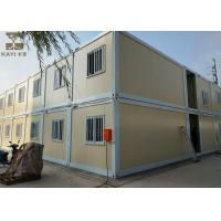 Buy cheap Yellow And White Storage Container Houses Two Layers With Internal Stairs from wholesalers