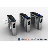 Buy cheap Entry Systems Access Control Turnstiles with Led Display , Road Barcode Electric Turnstile from wholesalers