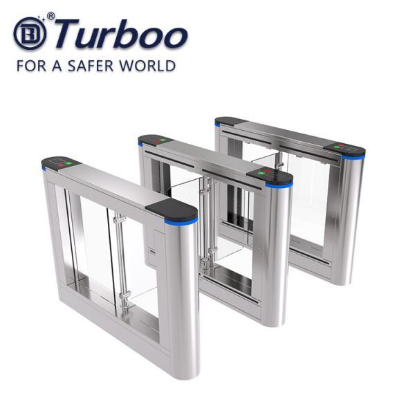 Quality AC110-240V Swing Gate Biometric Fingerprint Scanner Swing Barrier Gate for sale