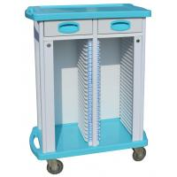 Buy cheap ABS Patient Record Medical Equipment Trolley With Double Rows , 2 Drawers from wholesalers