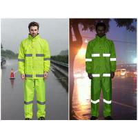 Buy cheap Reflective raincoat rain pants , traffic safety sanitation safety rain suits waterproof clothes from wholesalers