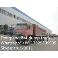Buy cheap hot sale dongfeng brand 8*4 LHD dump tipper truck, best price Dongfeng brand 8*4 LHD 30tons-40tons dump tipper truck from wholesalers