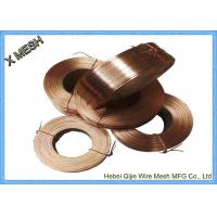 Buy cheap Galvanized Flat Stitching Wire Copper Binding Wire 2.5 Kgs / Coil Weight from wholesalers