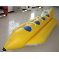 Buy cheap 0.9mm PVC Inflatable Banana Boat Four Person Inflatable Boat For Lake from wholesalers