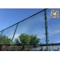Buy cheap 4.75mm Dark Green PVC coated Wire, 50X50mm mesh aperture Chainlink Fence from wholesalers