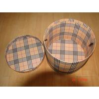 Buy cheap Barrel shape Paperboard box, Cardboard box with lid and handle from wholesalers