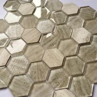 Buy cheap Glass Mosaic Wall Tiles Interior Decoration Bathroom Hexagon And Square Tile product