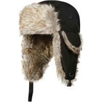 Buy cheap Strings Buckle Mens Russian Trapper Hat , Black / Grey Fur Mens Wool Hats For Winter from wholesalers