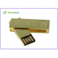 Buy cheap Office Rectangle Gold Twist USB Sticks Custom-Made With FileTransfer product