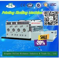 Buy cheap Chain Paper Feeder Multi-Color Water Ink Cardboard Printing Slotting Machine from wholesalers