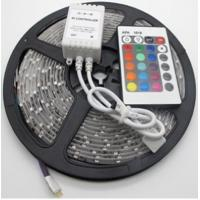 Buy cheap SMD5050 indoor decoration use IP20 DC24V 5m/roll 4-in-1 rgb flexible strip with smart rgb controller from wholesalers