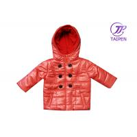 Buy cheap Custom Pink Toddlers Fleece Double - breasted / Padded Jackets With Hood from wholesalers
