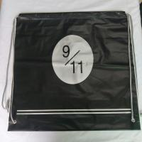 Buy cheap Transparent Rope Bag Rucksack , Black Outdoor Clear Plastic Drawstring Bags from wholesalers
