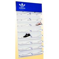 Buy cheap Customized Knock-down And Movable Shoes Rack Wooden Display Stands For Retail Store from wholesalers