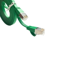 Buy cheap Shielded FTP Ethernet Flat Patch Cord Cat5e Cat6 Cat6A With RJ45 Connector from wholesalers