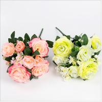 Buy cheap 11 Heads Artificial Silk Rose Bush from wholesalers