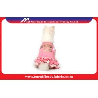 Buy cheap Pink Knitted Denim Cute Pet Clothes for Princess Girl Dog Dress , OEM Pet Apparel from wholesalers