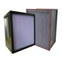Buy cheap HV Fiberglass Media Pleated Panel Hepa Air Filter For Industrial Clean Room H10 H11 H12 H13 from wholesalers