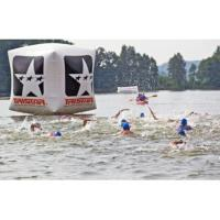 Buy cheap Swimming Event Inflatable square buoy Inflatable Water floating buoy for water race from wholesalers